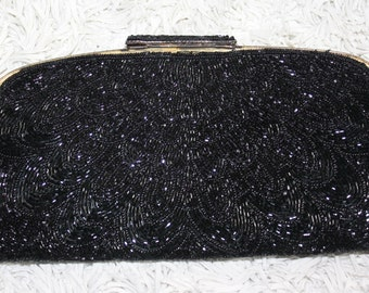 1960 Beaded Clutch with Optional Chain Strap