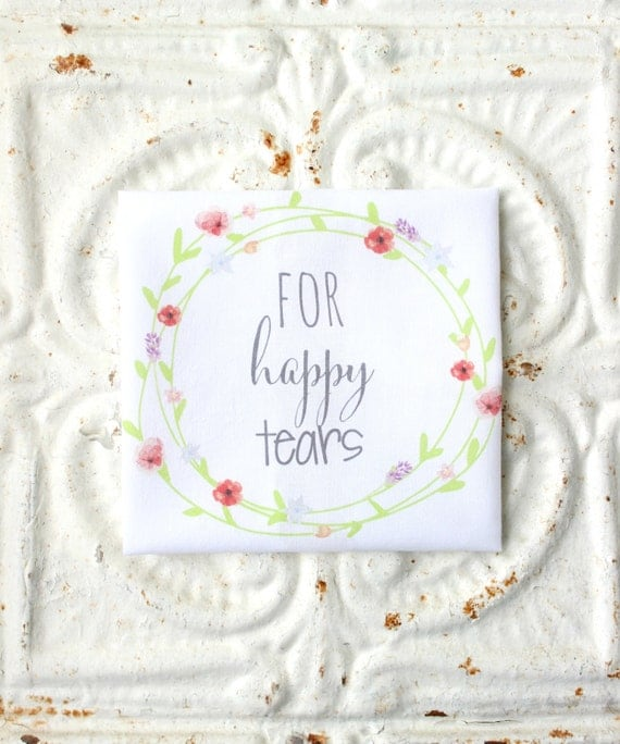 Wedding Handkerchiefs For The Family: For Happy Tears Wedding Handkerchief . FAMILY FRIEND . Guest