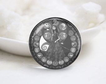 Handmade Round Photo Glass Cabochons (P3527)