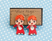 Studio Ghibli Ponyo Inspired Clinging Faux Gauge Earrings