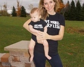 Love More Worry Less Onesies and T-shirts for baby, toddler, girls, boys, and women, mom, Maternity
