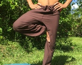 Mens organic yoga hemp pants, eco friendly soy cotton color options options, dance pants,  Super comfy
