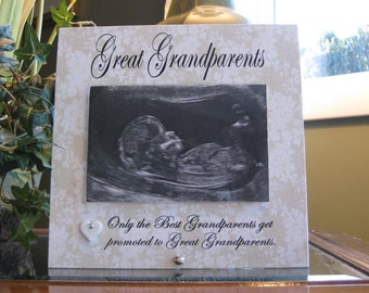 GREAT GRANDPARENTS gift, Great Grandparents frame, 4 x 6 photo, ceramic heart with crystal, Great Grandparents Picture Frame, Photo Frame