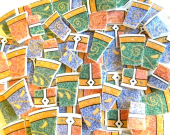 SALE-CLEARANCE Mosaic Tiles - Recycled Plates - Persia