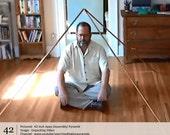 Copper Pyramid. Copper Meditation Pyramid for Self Healing - 42-Inch Apex