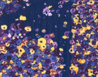 Nani Iro Fuwari Fuwari Viola Star, violet blue cotton double gauze fabric, by the yard