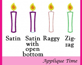 Instant Download Candle Add On Machine Embroidery Applique Design
