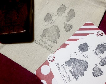Life Size Paw Print Stamp C012