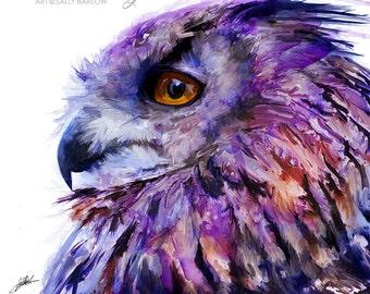 Eurasian Owl Art Painting Wall Decor Art Print