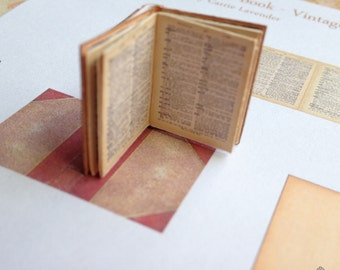 PDF Vintage Dictionary Book for Dollhouse Miniature 1/12 Scale DIGITAL DOWNLOAD