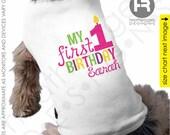 Dog Birthday Shirt - GIRLS Personalized Dog 1st Birthday Shirt