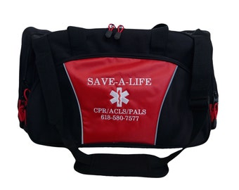 Duffel Bag Personalized Star of Life Paramedic EMT EMS Medic Trauma Nurse Medical Gym Ambulance Rescue Coast Guard Navy Army Marine Military