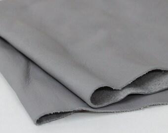 Light Gray Soft  Genuine Leather