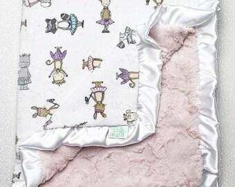 Minky blanket, baby girl, ballerina blanket, dancer blanket, ballerina nursery, tutu, baby gift, pink blanket, baby girl blanket,baby shower
