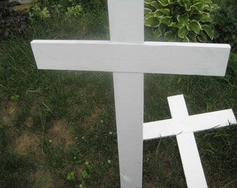 Plain Roadside, Unknown Solider Memorial Cross - Painted White - large size