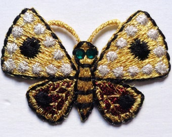 Iron On Patch Applique - Butterfly Gem Eye