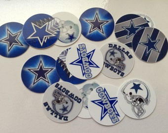 """Printed Precut Cowboys inspired 1"""" images for bottlecaps, crafts, scrapbooking etc.."""