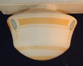 Antique vtg 1920's schoolhouse shade with Colonial revival design