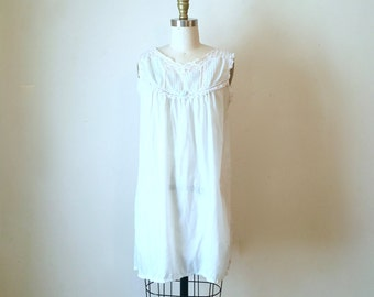 Vintage Baby Blue and Lace Night Gown