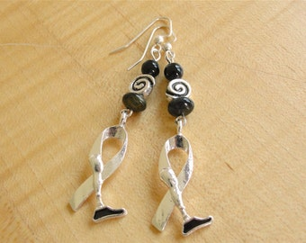 Amputee Awareness Earrings - Black - Prosthetic Limb Awareness