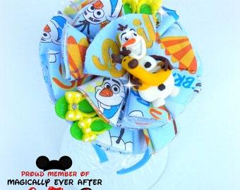 Olaf Fabric flower headband