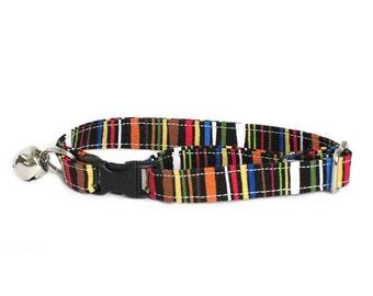 Little Stripes adjustable breakaway cat collar