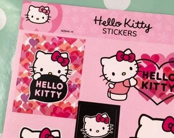 Hello kitty heart stickers (1 sheet)