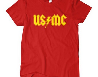Women's Marines Rock T-shirt - S M L XL 2x - Ladies' USMC Tee, United States, Marine Corps - 4 Colors