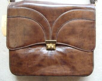 nos GARAY BROWN PURSE 60's 70's synthetic shoulder bag