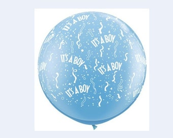Ready to Ship/Giant Pink Balloon/ It's a Girl / It's a Boy/ printed in white letters for Baby Showers, Gender Reveals.