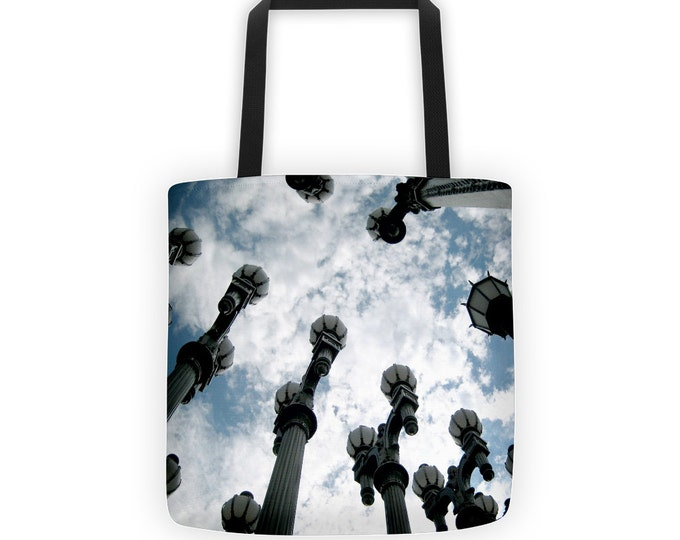 Urban Light Lamp Posts Tote for Eco Shopping and School and Sundry