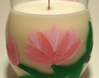 Peony Floral Art Soy Candle
