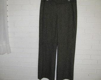 Vtg 40's style Tweed Woman's big leg high waist pants size 10