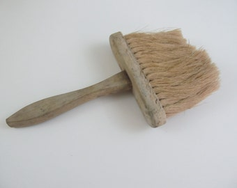 Large Vintage Wood Handle Paintbrush