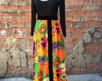 Joseph Magnin Co. Vintage Floral Long Sleeve Dress