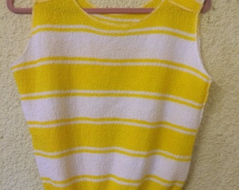 Yellow and White Summer Best Top