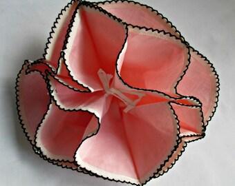 Cotton Pop Up Bread Basket Liner Pink Vintage Rolls Muffins Biscuits Holder Kitchen Dining