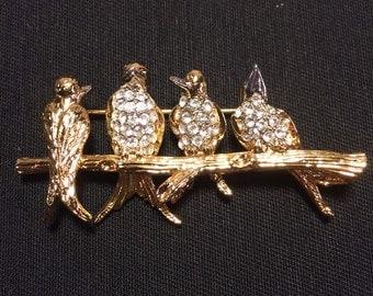 Joan Rivers Bird Pin