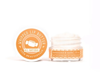 Butterscotch & Vanilla - Whipped Lip Butter - Natural Icing for Your Lips