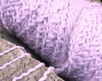 """Bulky weight cotton incredibly soft textured  yarn on cones Choice of soft pastel """" Ballet Pink """" machine washable   :"""
