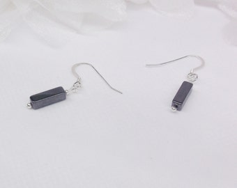 Hematite Earrings Gray Earrings Sterling Silver Earrings Dangle Earrings BuyAny3+1 Free