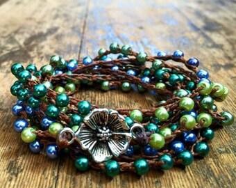 Flower Petal: Versatile crocheted necklace / bracelet / belt / headband