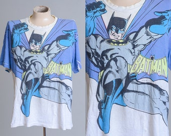 1989 Superman DC Comics Inc Super Hero Distressed T Shirt
