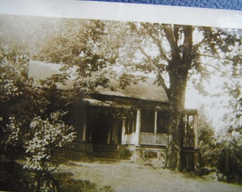 Vintage Snapshot Photo - Rural Country Home