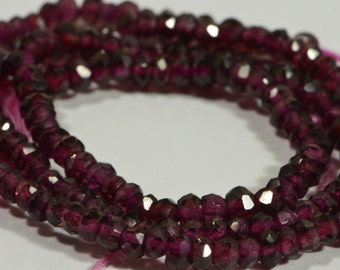 Red Garnet Beads 3 mm Natural Gemstone Beads Garnet Gemstone Bead Supplies