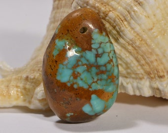 Kingman Turquoise 1 Bead Nugget Bead Natural Turquoise Jewelry Making Supplies
