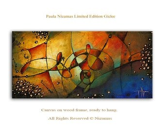 Wind of Change - Abstract Art Giclee on canvas home interior DecorPaula Nizamas Ready to hang