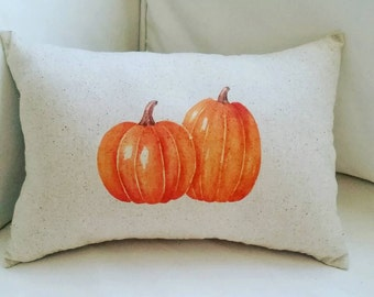 Pumpkins Pillow, Fall Pillow, Harvest, Thanksgiving Halloween Cushion, French Country Home Decor, Fall Decor, Autumn Decor, Throw Pillow