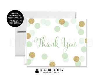 THANK YOU CARDS Folded A2 Thank You Cards Wedding Thank You Bridal Shower Thank You Baby Shower Thank You Printed Thank You Cards - Leigh