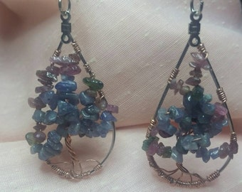 Tree of Life Tanzanite Earrings